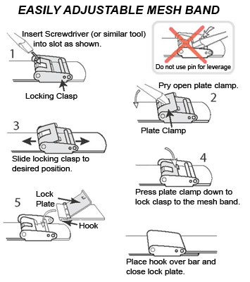 Mesh Band Instructions